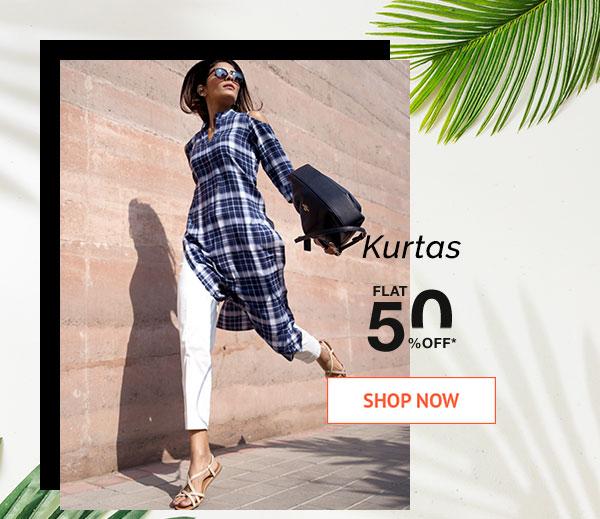 Kurtas Flat 50% Off