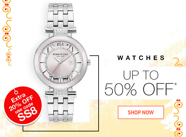 Watches Up to 50% Off