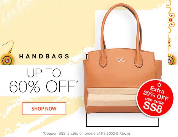 Handbags Upto 60% Off