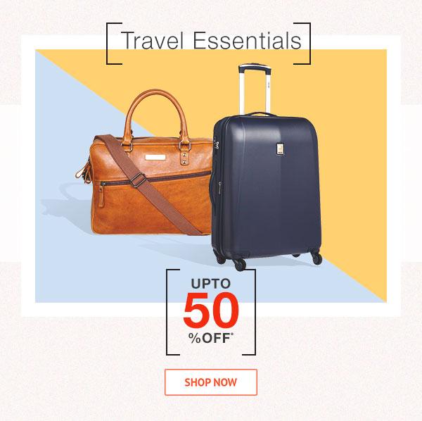 Travel Essentials Upto 50% Off