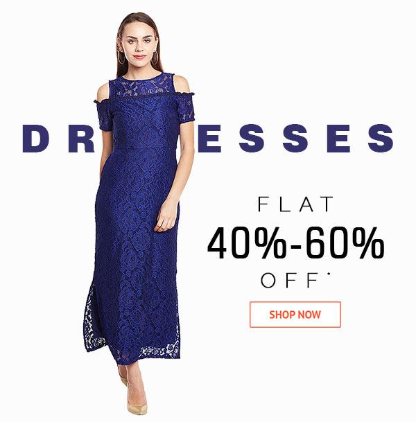 Dresses Flat 40%-60% Off