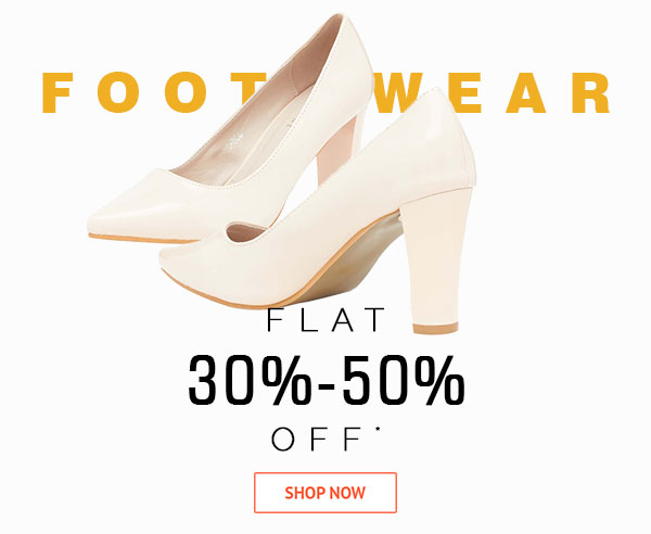 Women Footwear Flat 30%-50% Off