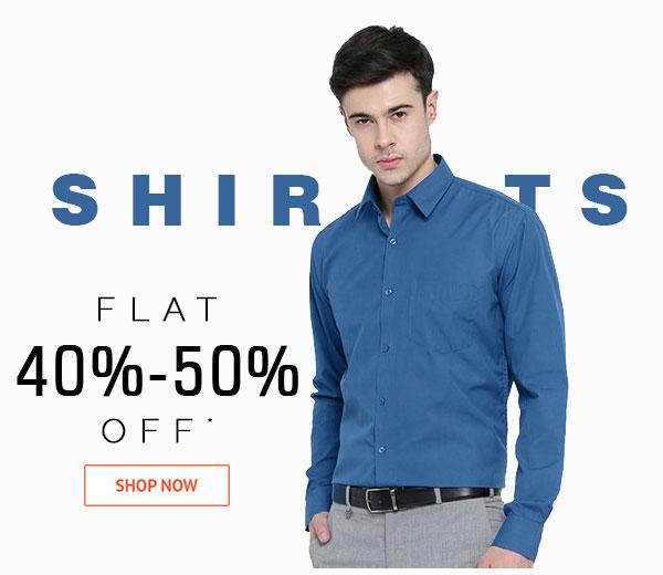 Shirts Flat 40%-50% Off